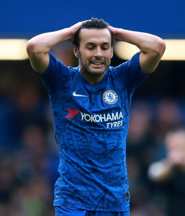 Pedro has been at Stamford Bridge since 2015 but he could be heading to Italy (Adam Davy/PA)
