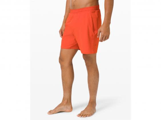 These brightly coloured shorts will be easy to find in your gym bag (Lululemon)