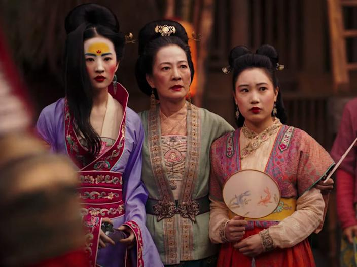 mulan mother sister live action movie