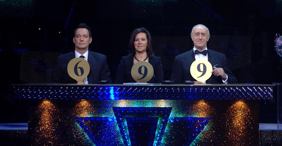 Arlene judging Strictly Come Dancing in 2008. (PA Images)