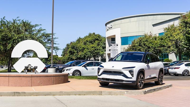 September 9, 2019 San Jose / CA / USA - NIO corporate headquarters in Silicon Valley; Nio is a Chinese automobile manufacturer specializing in designing and developing electric autonomous vehicles