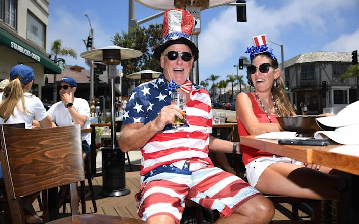 Beaches and indoor restaurant seating in Los Angeles County were closed on July 4 - AFP