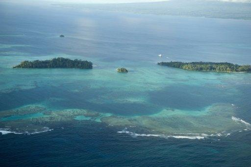 A view of some of the outlying isles of the Solomon Islands