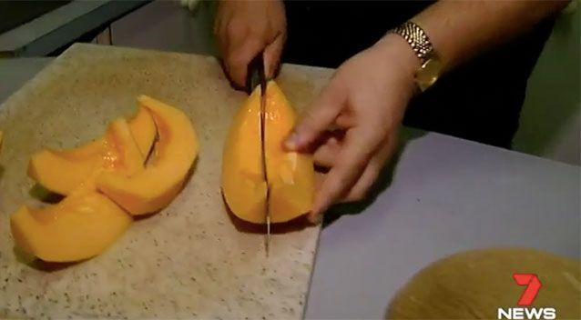 Health authorities are advising people to throw out any rockmelons they have at home. Source: 7 News