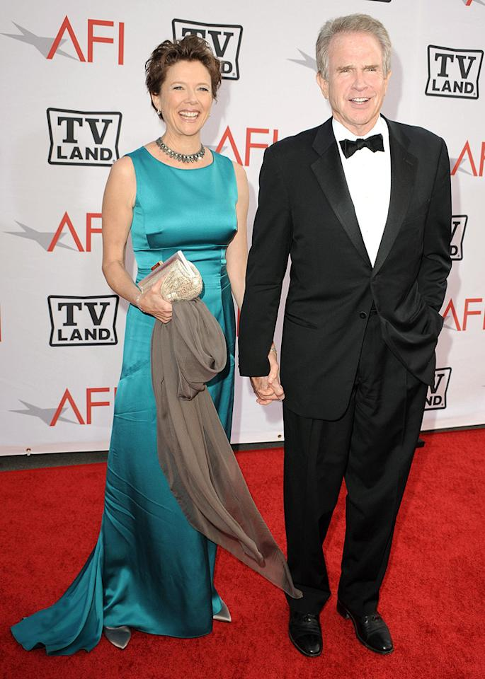 "<a href=""http://movies.yahoo.com/movie/contributor/1800018624"">Annette Bening</a> and <a href=""http://movies.yahoo.com/movie/contributor/1800020836"">Warren Beatty</a> attend the 38th Annual Lifetime Achievement Award Honoring Mike Nichols at Sony Pictures Studios on June 10, 2010 in Culver City, California."