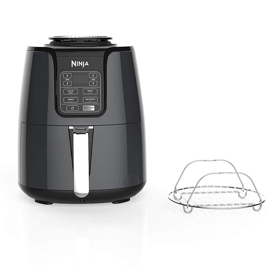 "<p>You won't be able to get enough of this <a href=""https://www.popsugar.com/buy/Ninja-Air-Fryer-524876?p_name=Ninja%20Air%20Fryer&retailer=amazon.com&pid=524876&price=80&evar1=moms%3Aus&evar9=46385124&evar98=https%3A%2F%2Fwww.popsugar.com%2Fphoto-gallery%2F46385124%2Fimage%2F46958028%2FNinja-Air-Fryer&list1=shopping%2Camazon%2Csale%2Camazon%20prime%2Csale%20shopping%2Camazon%20prime%20day&prop13=api&pdata=1"" rel=""nofollow"" data-shoppable-link=""1"" target=""_blank"" class=""ga-track"" data-ga-category=""Related"" data-ga-label=""https://www.amazon.com/1550-Watt-Programmable-Reheating-Dehydrating-AF101/dp/B07FDJMC9Q/ref=sr_1_5?keywords=air+fryer&amp;qid=1574882301&amp;s=home-garden&amp;sr=1-5"" data-ga-action=""In-Line Links"">Ninja Air Fryer</a> ($80, originally $130).</p>"