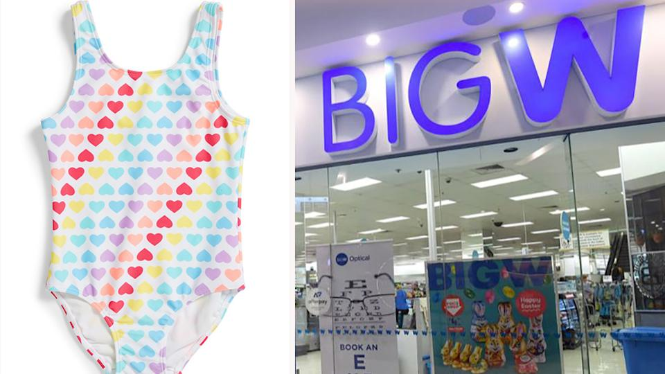 Big W has announced their new range of swimwear made from 100 per cent recycled materials. Photo: Big W/AAP