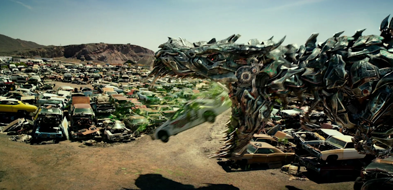 Spit that out Grimlock, you'll ruin your dinner. (Credit: Paramount)