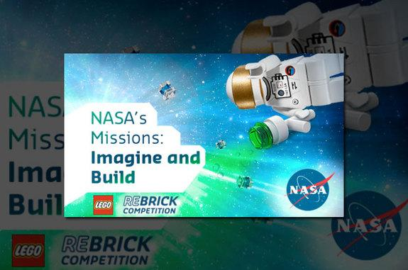 """The """"NASA's Missions: Imagine and Build"""" contest invites LEGO fans to design and build future NASA air- and spacecraft."""