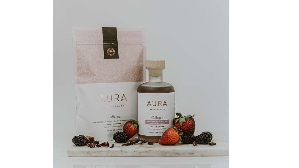 Get Up & Glow Bundle - AURA Inner Beauty, $130