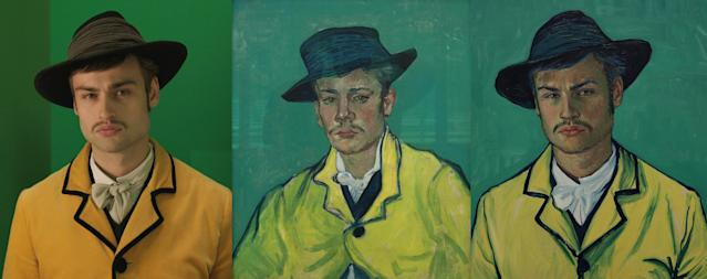 """Douglas Booth as Armand Roulin. """"'Loving Vincent' follows the journey of Armand Roulin, son to Postman Joseph Roulin. In the film Armand's father sends him to deliver a letter to Vincent's brother Theo, after hearing that Vincent shot himself. Armand arrives in Paris only to find that Theo is dead, too. He is drawn into the mystery of Vincent's death, as he finds out more about Vincent's amazing life and seeks out the truth about his death,"""" a description on the website for """"Loving Vincent"""" reads. """"Vincent painted Armand three times, and his portrait of Armand Roulin in a yellow jacket is the one from which we took a lead for 'Loving Vincent.'"""" (BreakThru Films and Good Deed Entertainment)"""