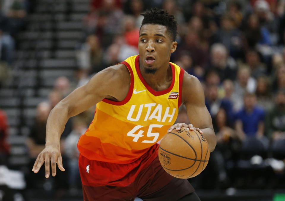 Utah Jazz guard Donovan Mitchell is having one of the most captivating rookie seasons in recent memory. (AP Photo/Rick Bowmer, File)