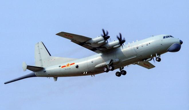 Two PLA Y-8 anti-submarine aircraft briefly entered Taiwan's air defence identification zone on Wednesday. Photo: Handout