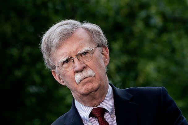 PHOTO: National Security Advisor John Bolton speaks to Fox News outside the White House in Washington, DC. (Brendan Smialowski/AFP via Getty Images, FILE)