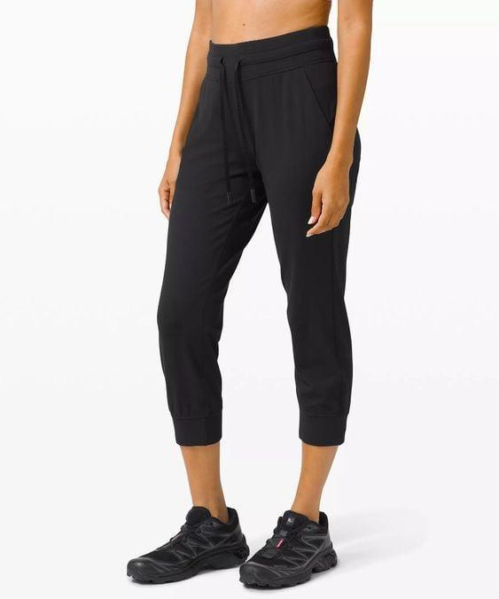 """<p>""""I love joggers because they are comfy and casual but feel like I put in a little more effort than just workout leggings. When Lululemon sent me a pair of <span>Ready to Rulu Jogger Crop pants</span> ($98), I immediately fell in love with how soft they are. I have worn them almost every day this week! Plus, I gave a pair to my mom for an early <a class=""""link rapid-noclick-resp"""" href=""""https://www.popsugar.com/Mother%E2%80%99s-Day"""" rel=""""nofollow noopener"""" target=""""_blank"""" data-ylk=""""slk:Mother's Day"""">Mother's Day</a> gift, and she loves them! Especially since they have pockets, and the cropped length fits us just right."""" - Christina Stiehl, senior editor, Fitness</p>"""