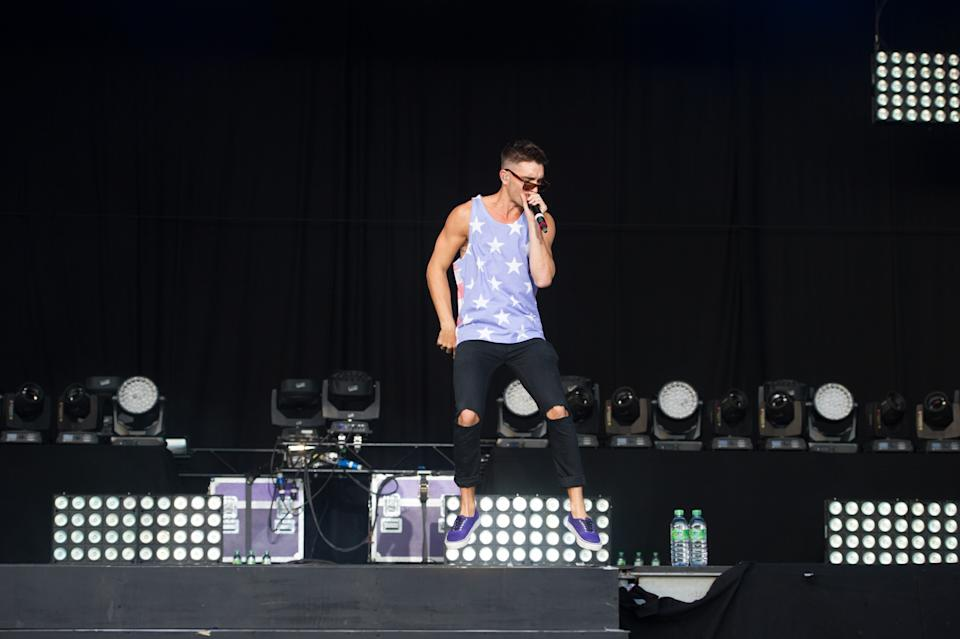 Tom Parker of The Wanted live on stage on day 2 at Fusion Festival on 31st August 2014 at Cofton Park, Birmingham