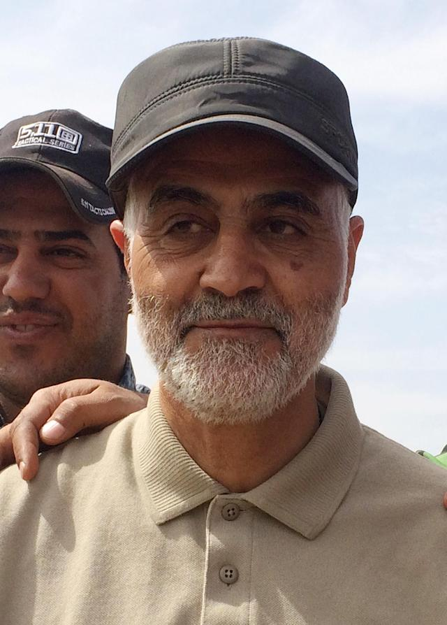 Iranian Revolutionary Guard Commander Qassem Soleimani was killed in a US air strike on Friday (Picture: REUTERS/Stringer)