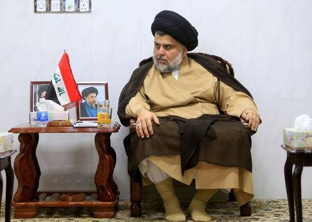 Iraqi Shi'ite cleric Moqtada al-Sadr meets with ambassadors of Turkey, Jordan, Saudi Arabia, Syria and Kuwait, in Najaf