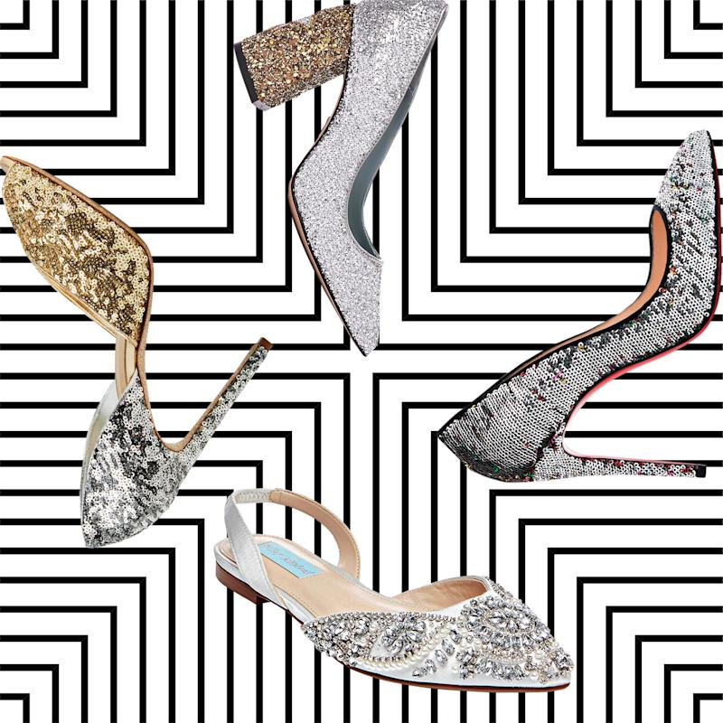 fbb8ebaaf 11 Pairs of Sparkly Wedding Shoes That Will Light Up the Dance Floor
