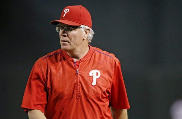 Phillies manager Pete Mackanin doesn't tolerate silly mistakes. (AP)