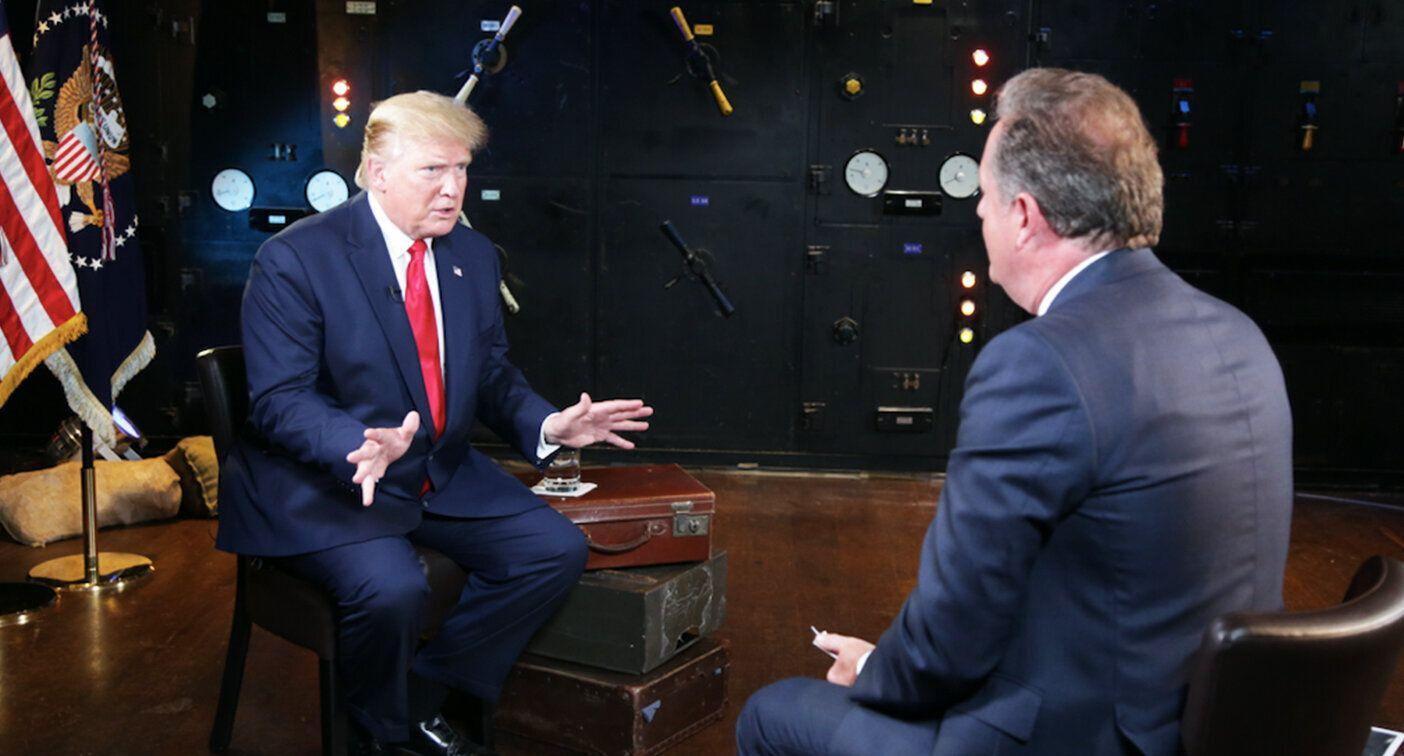 President Donald Trump spoke to Piers Morgan in an exclusive interview. [Photo: ITV]