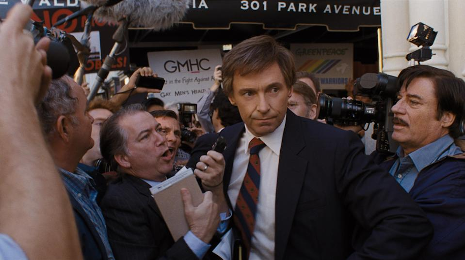 Hugh Jackman as Gary Hart in <em>The Front Runner</em> (Photo: Columbia Pictures/courtesy Everett Collection)