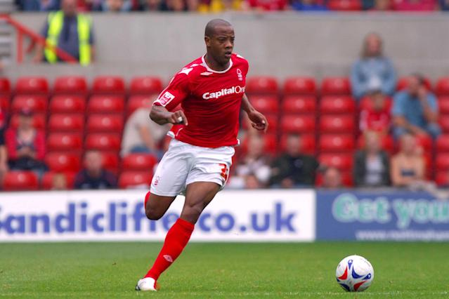 Junior Agogo in action for Nottingham Forest (Photo by Rui Vieira - PA Images via Getty Images)