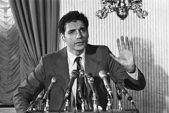<p>Ralph Nader announces that he will seek court action challenging the firing of Watergate special prosecutor Archibald Cox, October 22, 1973. (Photo: AP) </p>