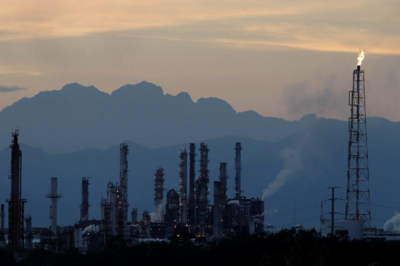 The refinery of Mexico's national oil company Pemex is seen in Cadereyta