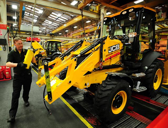 JCB's factory in Rocester, Staffordshire — one factory where workers' hours will be cut. (Reuters)