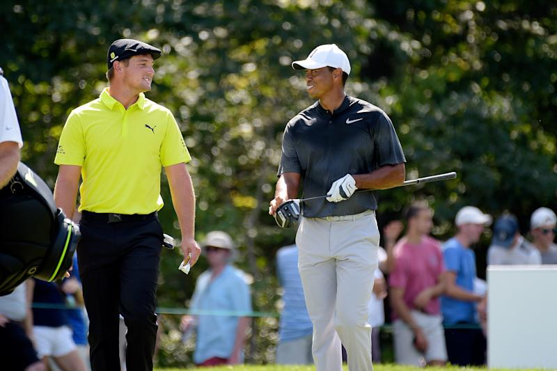 DeChambeau shoots 63, gets Tiger's vote for Ryder Cup
