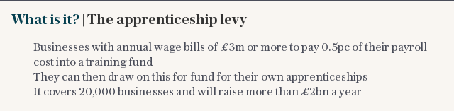 What is it?   The apprenticeship levy