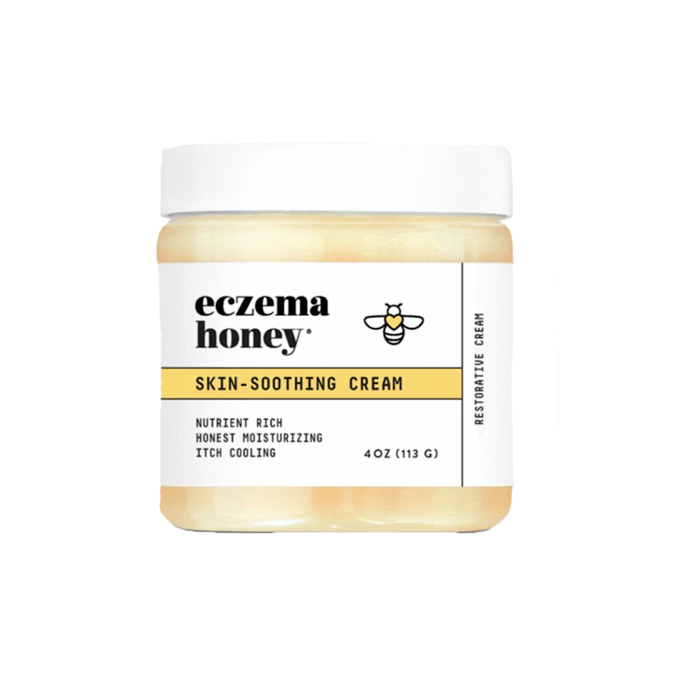 """<p>Eczema Honey's Original Skin-Soothing Cream feels like a lightweight balm, but melts into the skin quickly without leaving any greasy residue behind. Instead, thanks to hydrating pure honey and a blend of almond and sunflower oils, it leaves the skin looking moisturized and visibly healthier. Colloidal oatmeal is also in the formula to help temper itchiness and calm irritation.</p> <p><strong>$30</strong> (<a href=""""https://eczemahoneyco.com/products/eczema-honey"""" rel=""""nofollow noopener"""" target=""""_blank"""" data-ylk=""""slk:Shop Now"""" class=""""link rapid-noclick-resp"""">Shop Now</a>)</p>"""