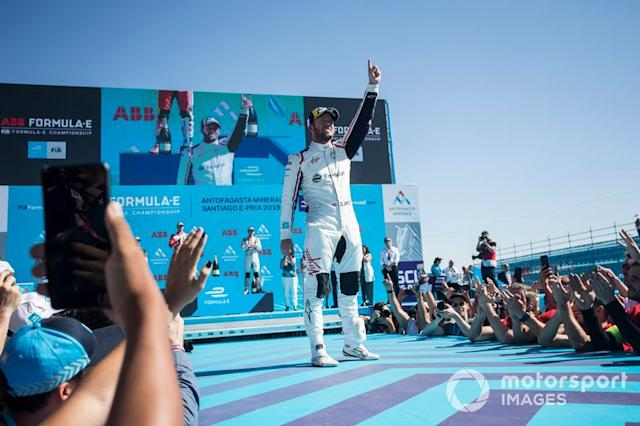 "Ganador, Sam Bird, Envision Virgin Racing celebra <span class=""copyright"">Andrew Ferraro / Motorsport Images</span>"