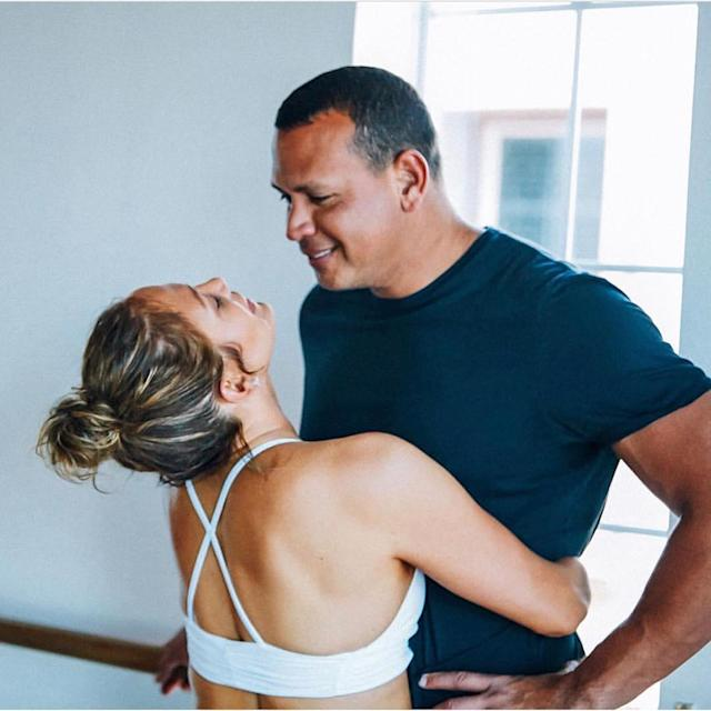 <p>Hopefully a couple that works out together stays together … because these two do a lot of that! (Photo: Jennifer Lopez via Instagram)<br><br></p>