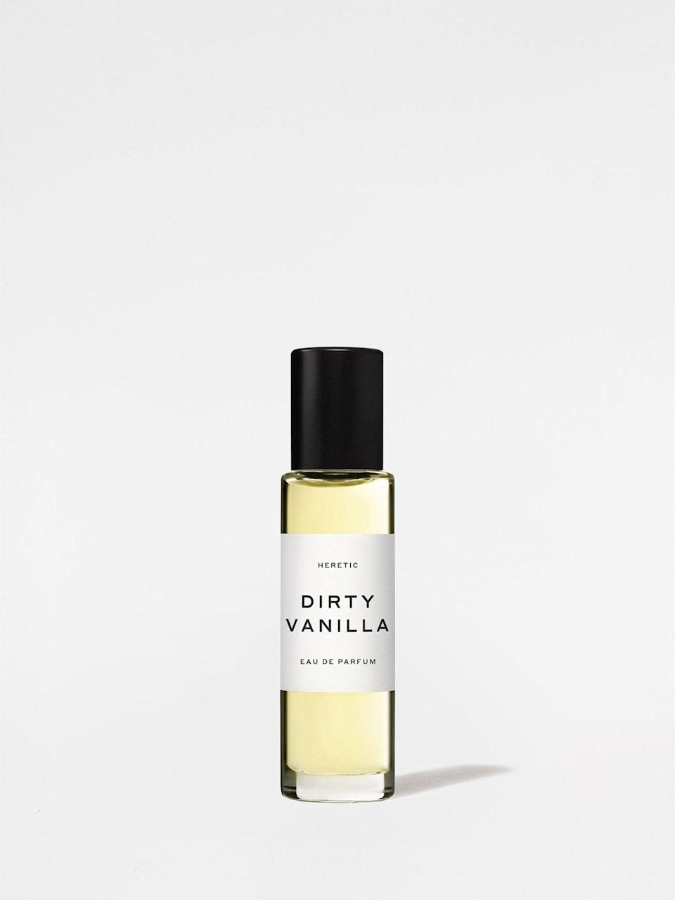 """<h2>Heretic Dirty Vanilla<br></h2><br>""""Appeal to Cancer's sweet, emotional side with a fragrance that indulges in romance,"""" says Potter. """"Look for anything with notes of vanilla.""""<br><br><strong>Heretic</strong> Dirty Vanilla, $, available at <a href=""""https://go.skimresources.com/?id=30283X879131&url=https%3A%2F%2Fstandarddose.com%2Fproducts%2Fheretic-parfum-dirty-vanilla"""" rel=""""nofollow noopener"""" target=""""_blank"""" data-ylk=""""slk:Standard Dose"""" class=""""link rapid-noclick-resp"""">Standard Dose</a>"""