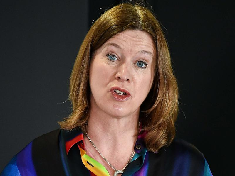 Scotland's Chief Medical Officer Dr Catherine Calderwood talks at a coronavirus briefing at St Andrews House: Getty Images