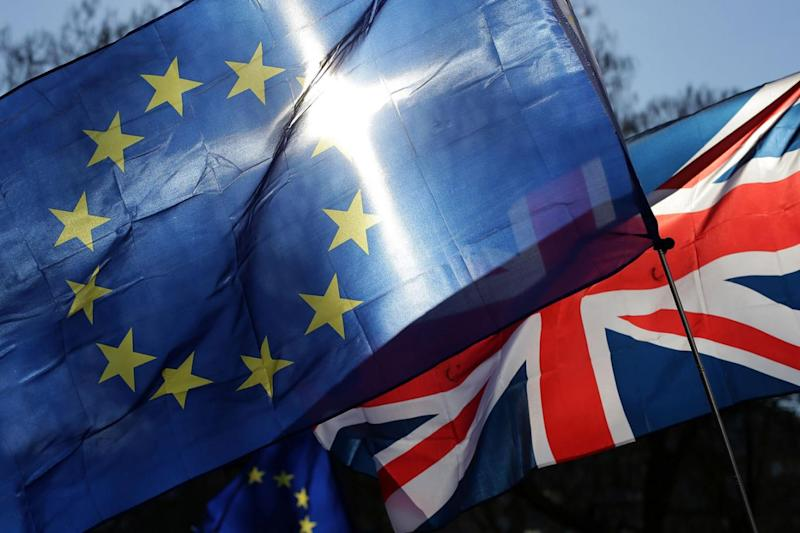 The draft paper states that the UK must 'honour its share of the financing of all the obligations taken while a member of the EU' (AFP/Getty Images)