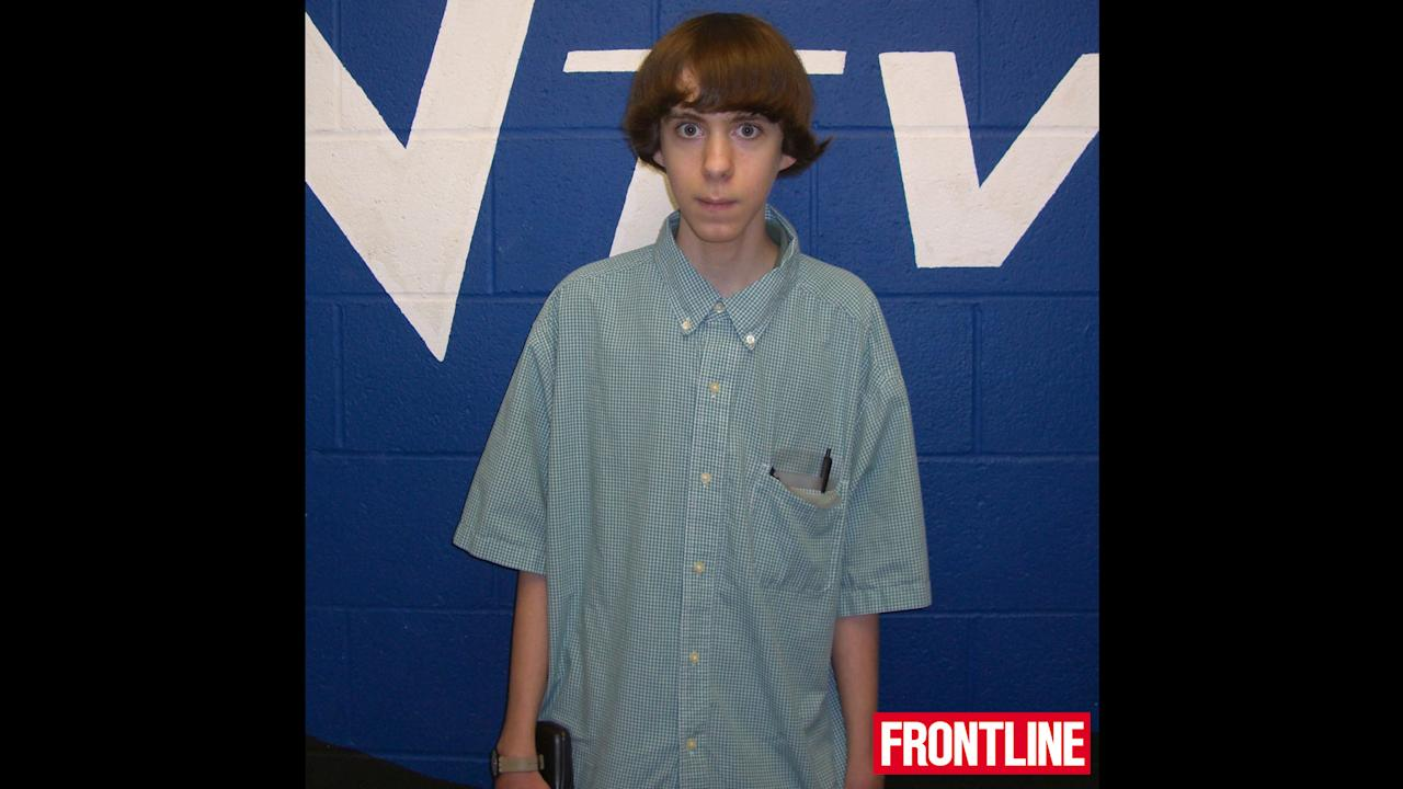 """Adam Lanza in 2008, when he was in the 10th grade at Newton High School. One of Adam's teachers said he had """"episodes"""" when he became completely silent and withdrawn, but appeared to be making progress socially in school. (Frontline)"""