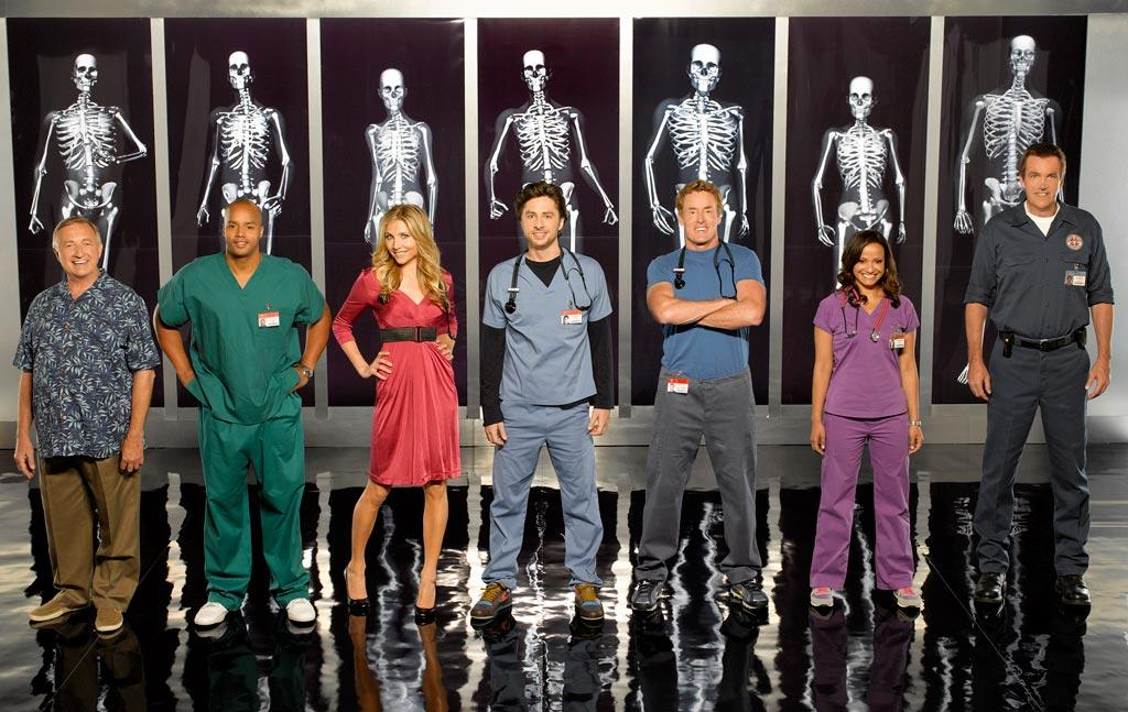 """After a """"near-death experience,"""" medical comedy <a href=""""/scrubs/show/33475"""">""""Scrubs""""</a> will indeed be kept alive by ABC for a ninth season. The series follows a group of interns-turned-residents at Sacred Heart Hospital as they deal with quirky colleagues, complicated love lives, and wacky patients. Though protagonist Dr. John """"J.D."""" Dorian (<a href=""""/zach-braff/contributor/46110"""">Zach Braff</a>) prepared to leave Sacred Heart — and love Dr. Elliot Reid (<a href=""""/sarah-chalke/contributor/50241"""">Sarah Chalke</a>) — to move closer to his son last season, word is Braff will be back…at least for a few episodes. But the series may also move from hospital to med-school classroom. Will viewers get to follow a whole new crop of interns as they get their feet wet in the wild world of medicine? <a href=""""/scrubs/show/33475"""">Returns in 2010 on ABC</a>"""