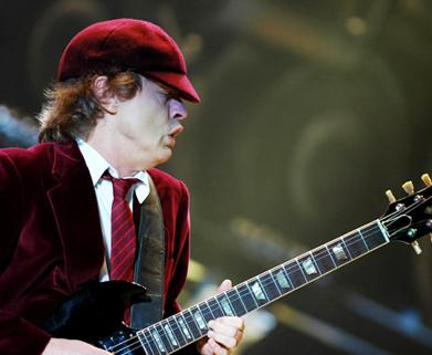 <p>Angus Young at the Black Ice Tour at the Rogers Centre on November 7, 2008 in Toronto, Canada. The band will be looking forward to returning to Australia to perform early 2010. AC/DC last performed on home soil in 2001.</p>