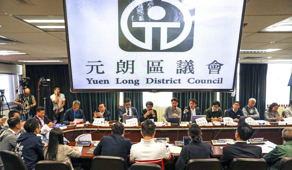 Eleven opposition members of the Yuen Long District Council have resigned. Photo: Winson Wong