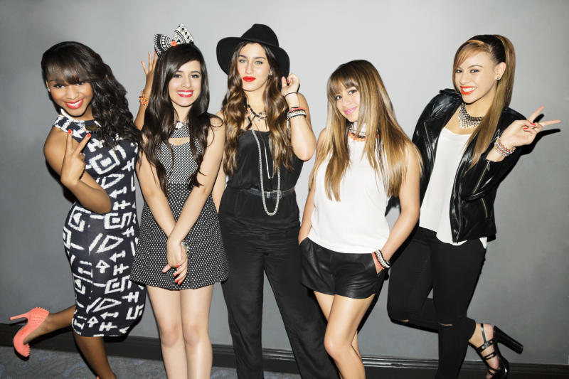 This undated publicity image released by Epic Records shows members of Fifth Harmony, from left, Normani Kordei, Camila Cabello, Lauren Jauregui, Ally Brooke, and Dinah Jane Hansen. Fifth Harmony is one of a new crop of girl groups currently on the music scene. (AP Photo/Epic Records)
