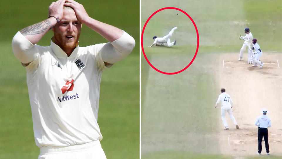 Ben Stokes had fans scratching their heads. Image: Getty/Fox Sports