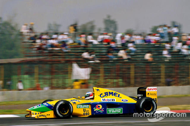 "Michael Schumacher, Benetton <span class=""copyright"">LAT Images</span>"