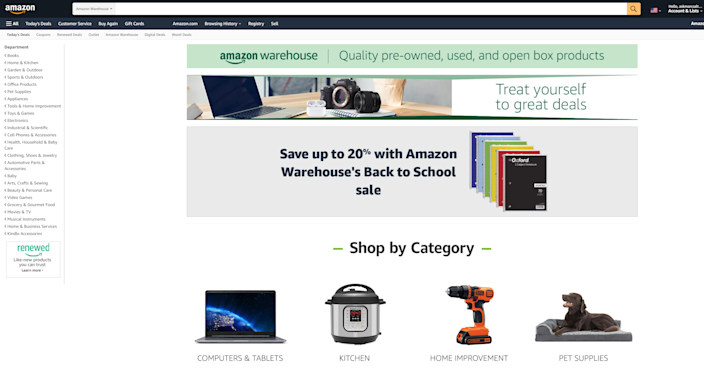 As the name suggests, Amazon Warehouse offers deals on used, open-box or refurbished products. Many of these items qualify for Prime or free shipping and are covered by Amazon's return policy.