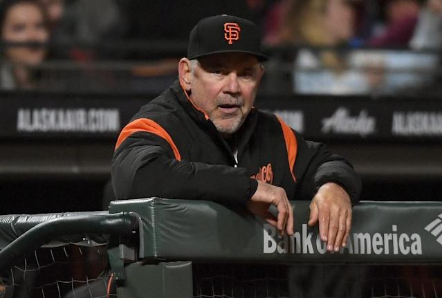 This is the third straight year in which San Francisco Giants manager Bruce Bochy, 62, has dealt with heart trouble (AFP Photo/Thearon W. Henderson)