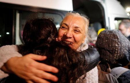 Idil Eser, the director of Amnesty in Turkey reacts after being released the Silivri prison complex near Istanbul, Turkey, October 26, 2017. REUTERS/Osman Orsal
