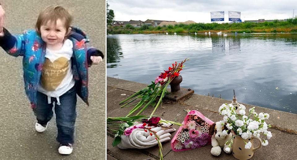 Ruby Tyers drowned in a river after wandering away from her parents (SWNS)