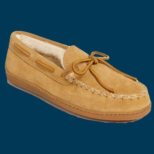 """<p><strong>Minnetonka</strong></p><p>nordstrom.com</p><p><strong>$49.95</strong></p><p><a href=""""https://go.redirectingat.com?id=74968X1596630&url=https%3A%2F%2Fshop.nordstrom.com%2Fs%2Fminnetonka-suede-moccasin%2F3517294&sref=https%3A%2F%2Fwww.goodhousekeeping.com%2Fholidays%2Ffathers-day%2Fg21205637%2Ffathers-day-gifts-for-grandpa%2F"""" rel=""""nofollow noopener"""" target=""""_blank"""" data-ylk=""""slk:Shop Now"""" class=""""link rapid-noclick-resp"""">Shop Now</a></p><p>Upgrade his <a href=""""https://www.goodhousekeeping.com/health-products/g26960479/best-walking-shoes-for-women/"""" rel=""""nofollow noopener"""" target=""""_blank"""" data-ylk=""""slk:everyday slippers"""" class=""""link rapid-noclick-resp"""">everyday slippers</a> into something that will keep him warm and comfortable and that will last him for years. </p>"""